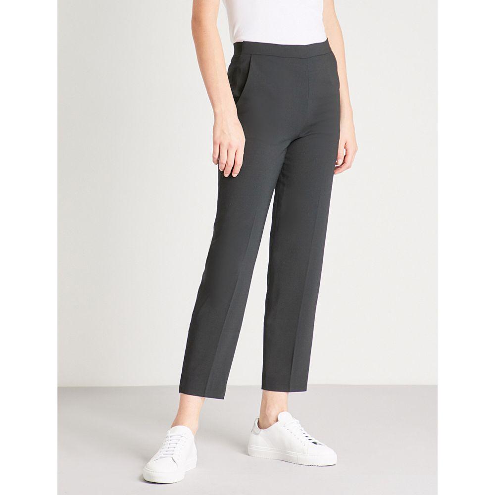 ホイッスルズ レディース ボトムス・パンツ【anna high-rise tapered wool-blend trousers】Black