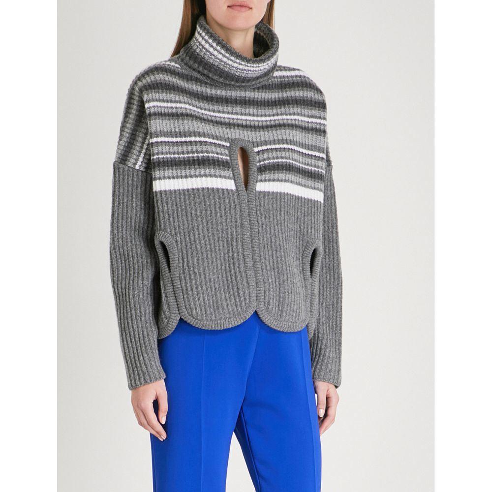 アントニオ ベラルディ レディース トップス ニット・セーター【nobile wool and cashmere-blend turtleneck jumper】Open grey