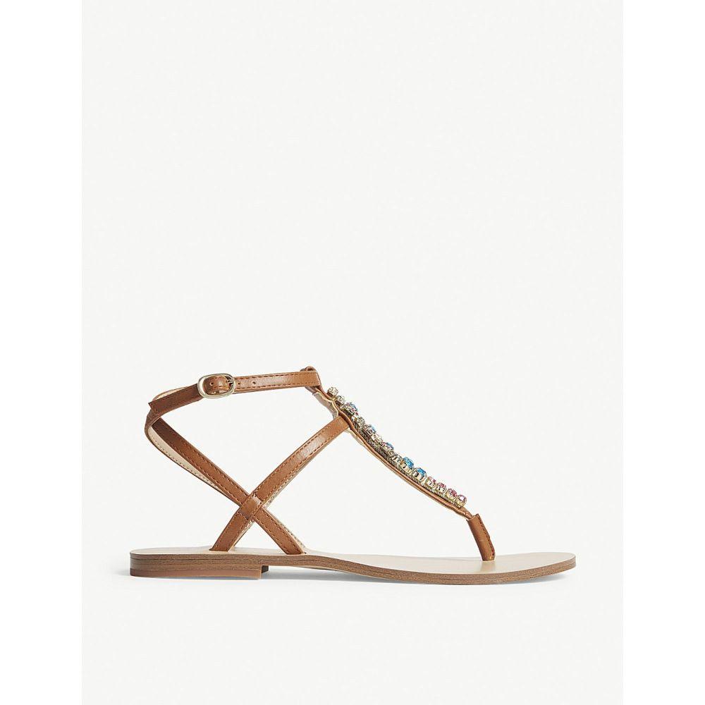 アルド レディース シューズ・靴 サンダル・ミュール【whitwell embellished t-bar sandals】Cognac