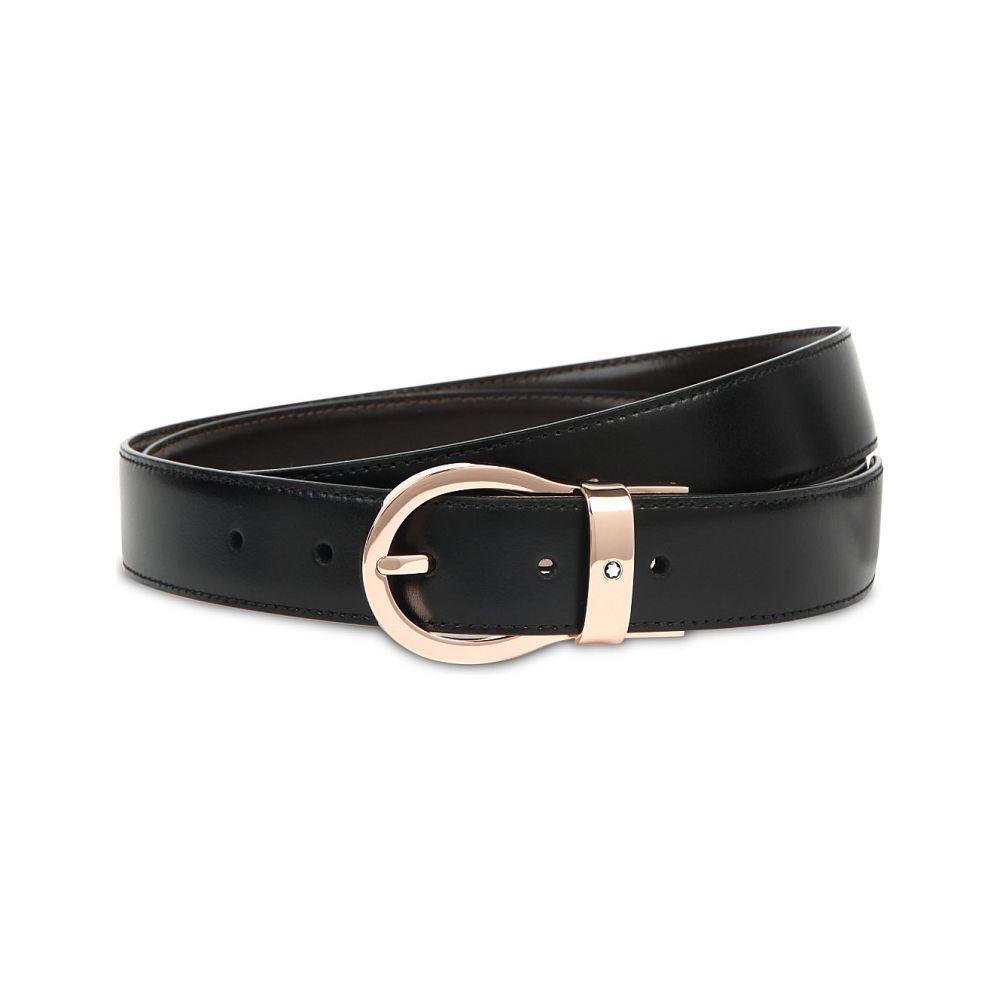モンブラン montblanc メンズ ベルト【twisting buckle belt】Black brown