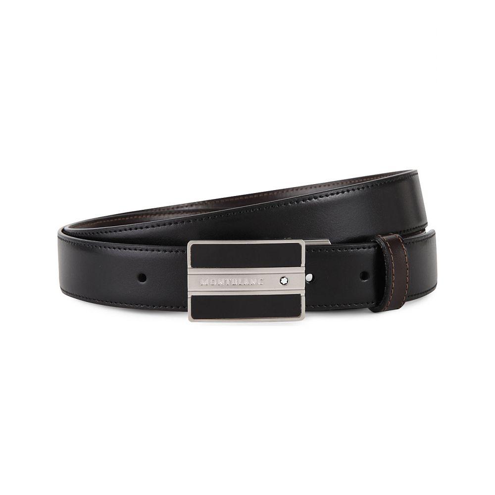 モンブラン montblanc メンズ ベルト【embossed leather belt】Black brown