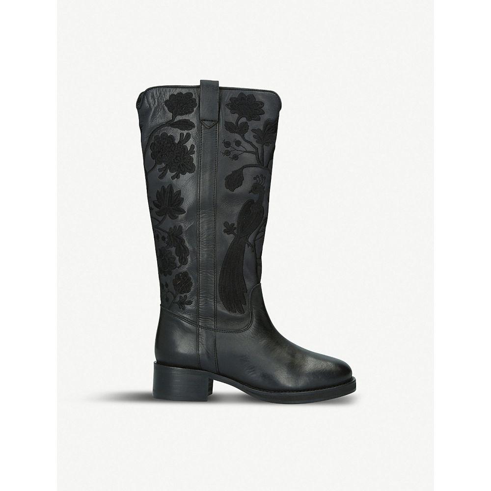 カート ジェイガー kg kurt geiger レディース シューズ・靴 ブーツ【winnie leather and suede boots】Black