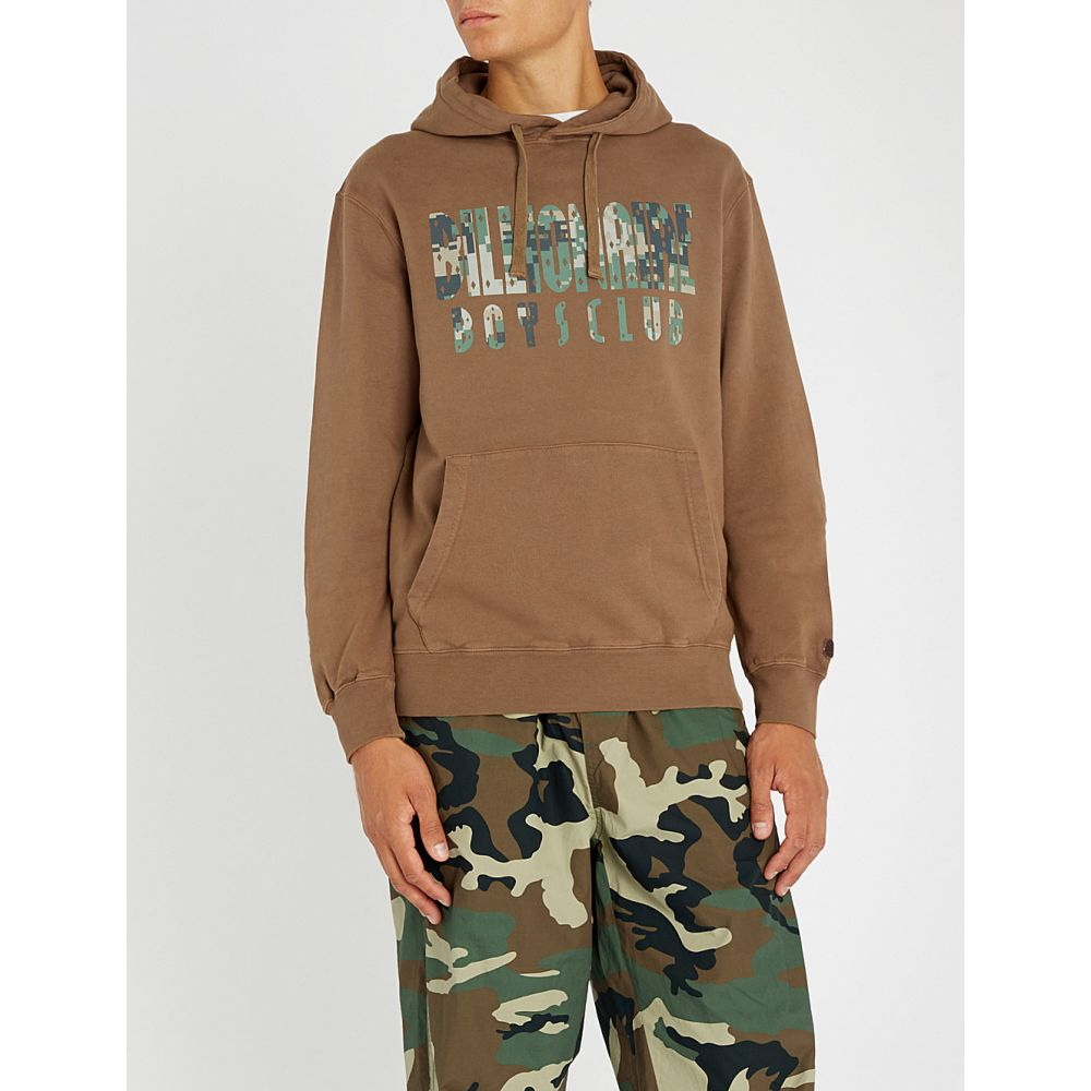 ビリオネアボーイズクラブ billionaire boys club メンズ トップス パーカー【digital camo-print overdye cotton-jersey hoody】Brown