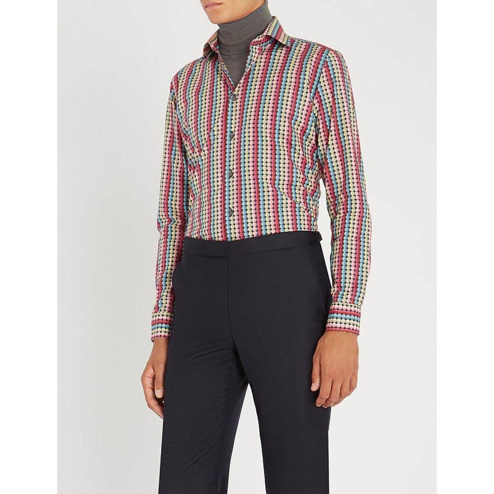 リチャード ジェームス richard james メンズ トップス シャツ【patterned contemporary-fit cotton shirt】Plum