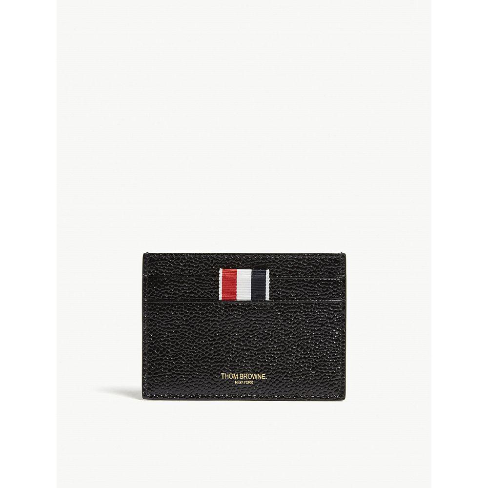 トム ブラウン thom browne レディース カードケース・名刺入れ【pebbled leather card holder】Black