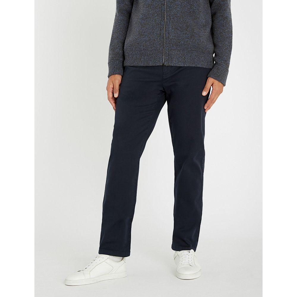 カナーリ canali メンズ ボトムス・パンツ チノパン【regular-fit cotton-blend trousers】Navy