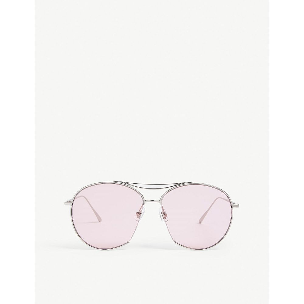 ジェントルモンスター gentle monster レディース メガネ・サングラス【jumping jack tinted aviator stainless steel sunglasses】Silver pink