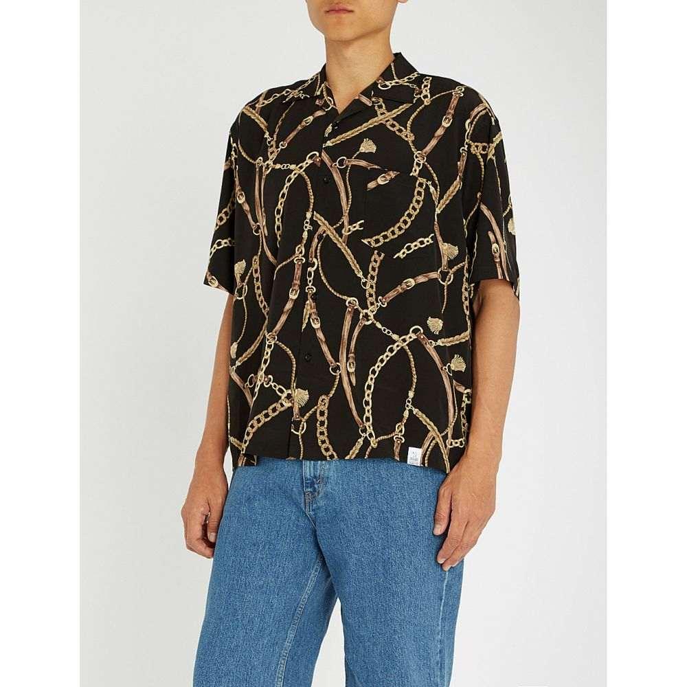 マジック スティック magic stick メンズ トップス 半袖シャツ【yakuza regular-fit woven shirt】Black