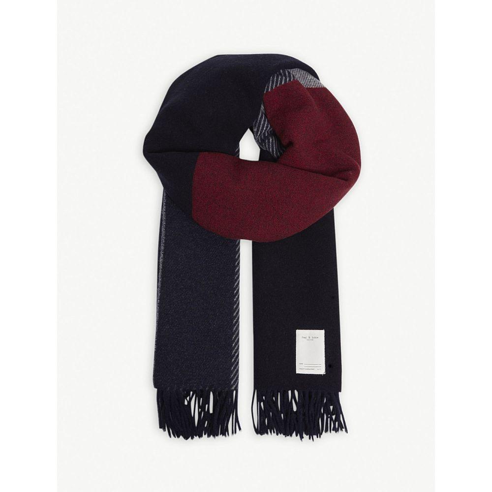 ラグ&ボーン rag & bone レディース マフラー・スカーフ・ストール【mixed check wool-blend scarf】Navy multi