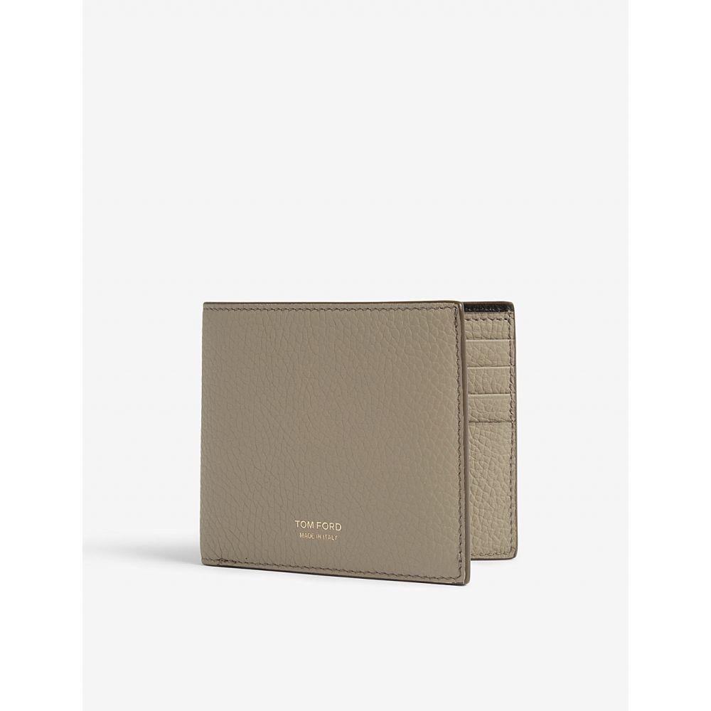 トム フォード tom ford メンズ 財布【logo grained leather wallet】Sage green