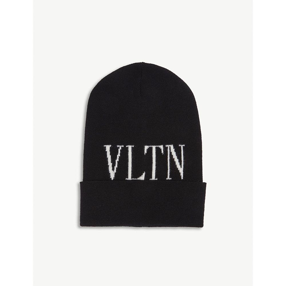 ヴァレンティノ valentino レディース 帽子 ニット【logo beanie】Nero/bianco