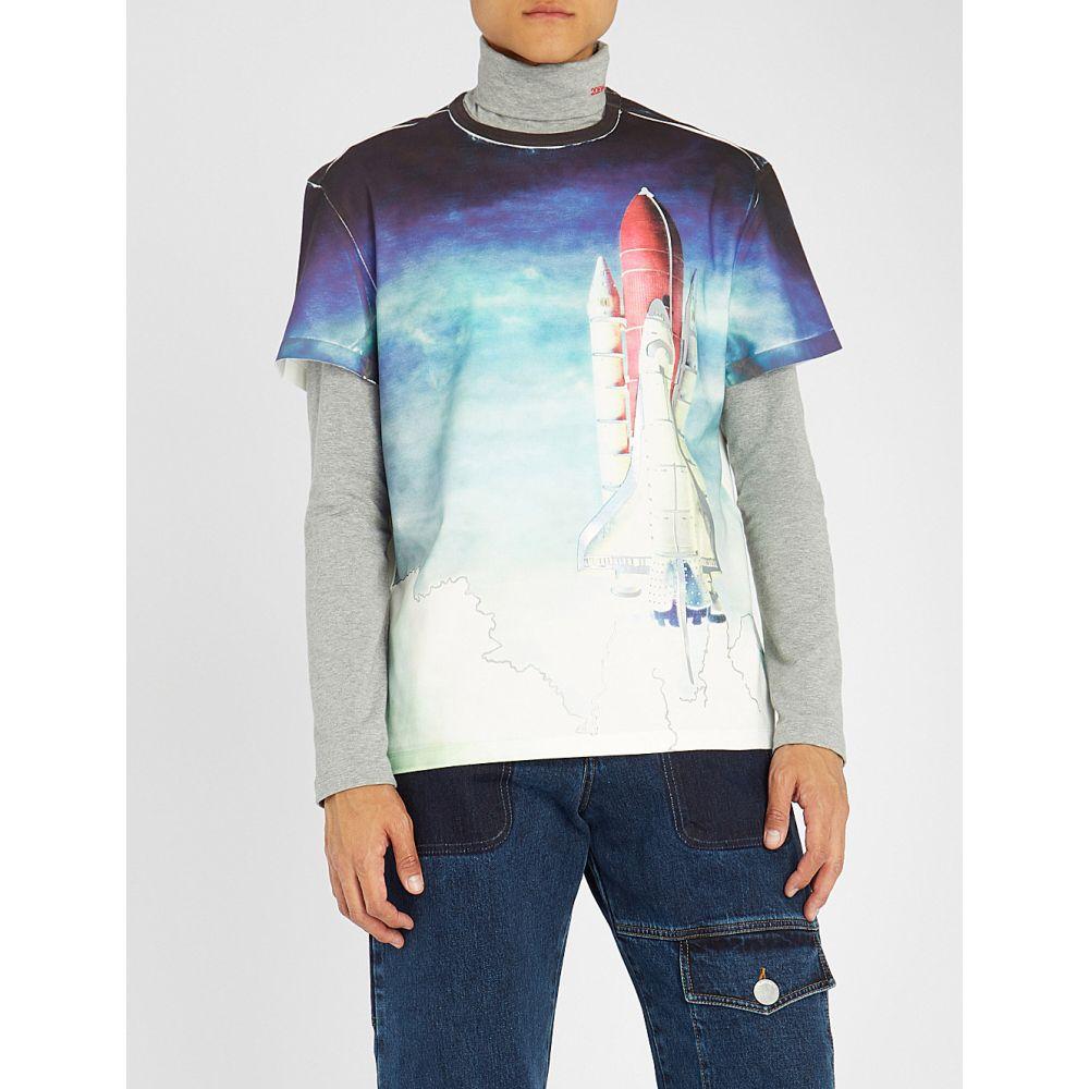 メゾン マルジェラ maison margiela メンズ トップス Tシャツ【rocket-print cotton-jersey t-shirt】Off white