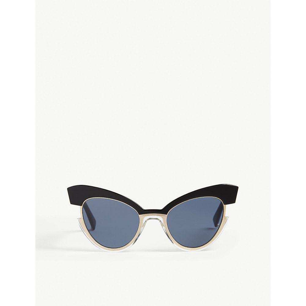 マックスマーラ max mara レディース メガネ・サングラス【ingrid cat-eye sunglasses】Black silver