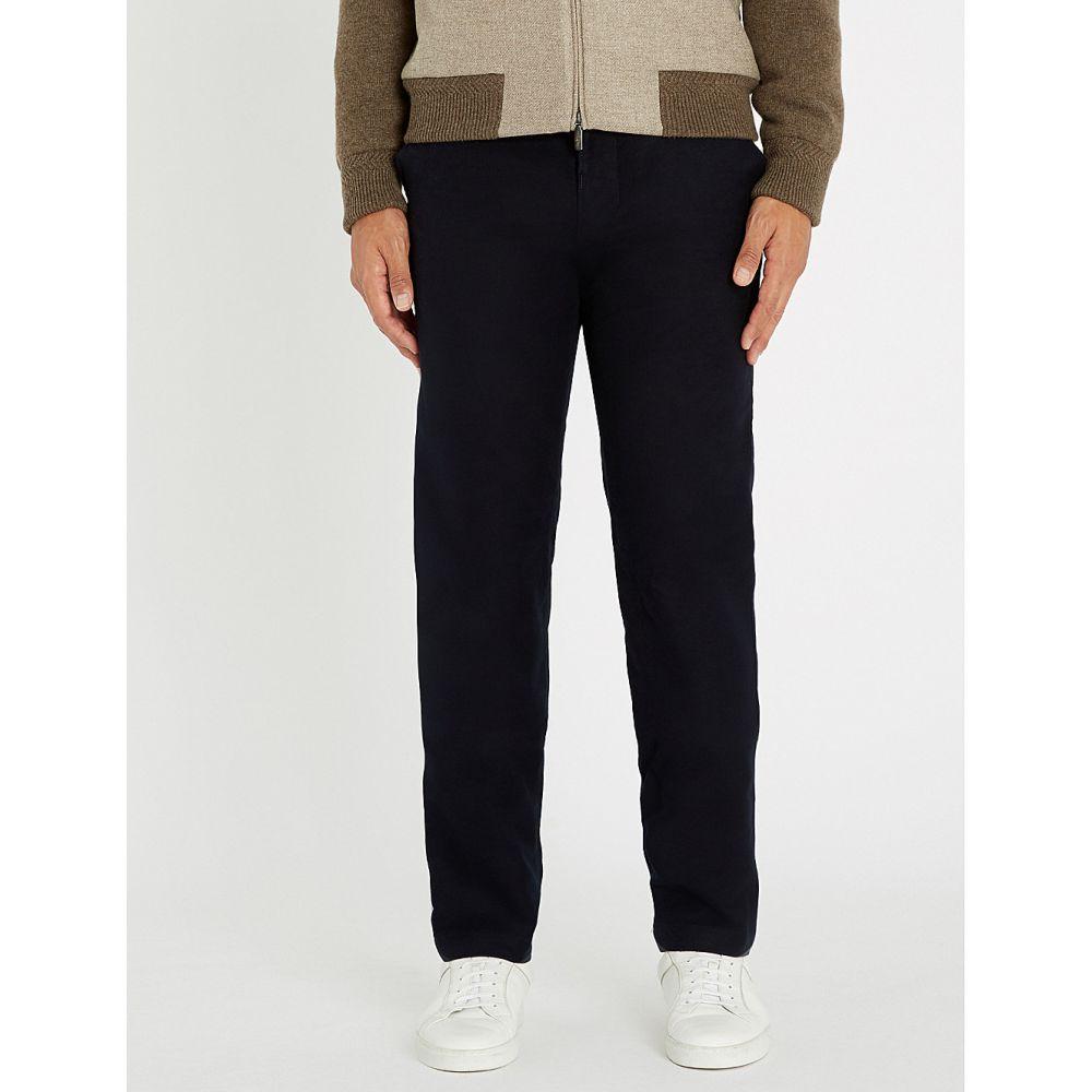 リチャード ジェームス richard james メンズ ボトムス・パンツ【regular-fit straight stretch-cotton trousers】Midnight