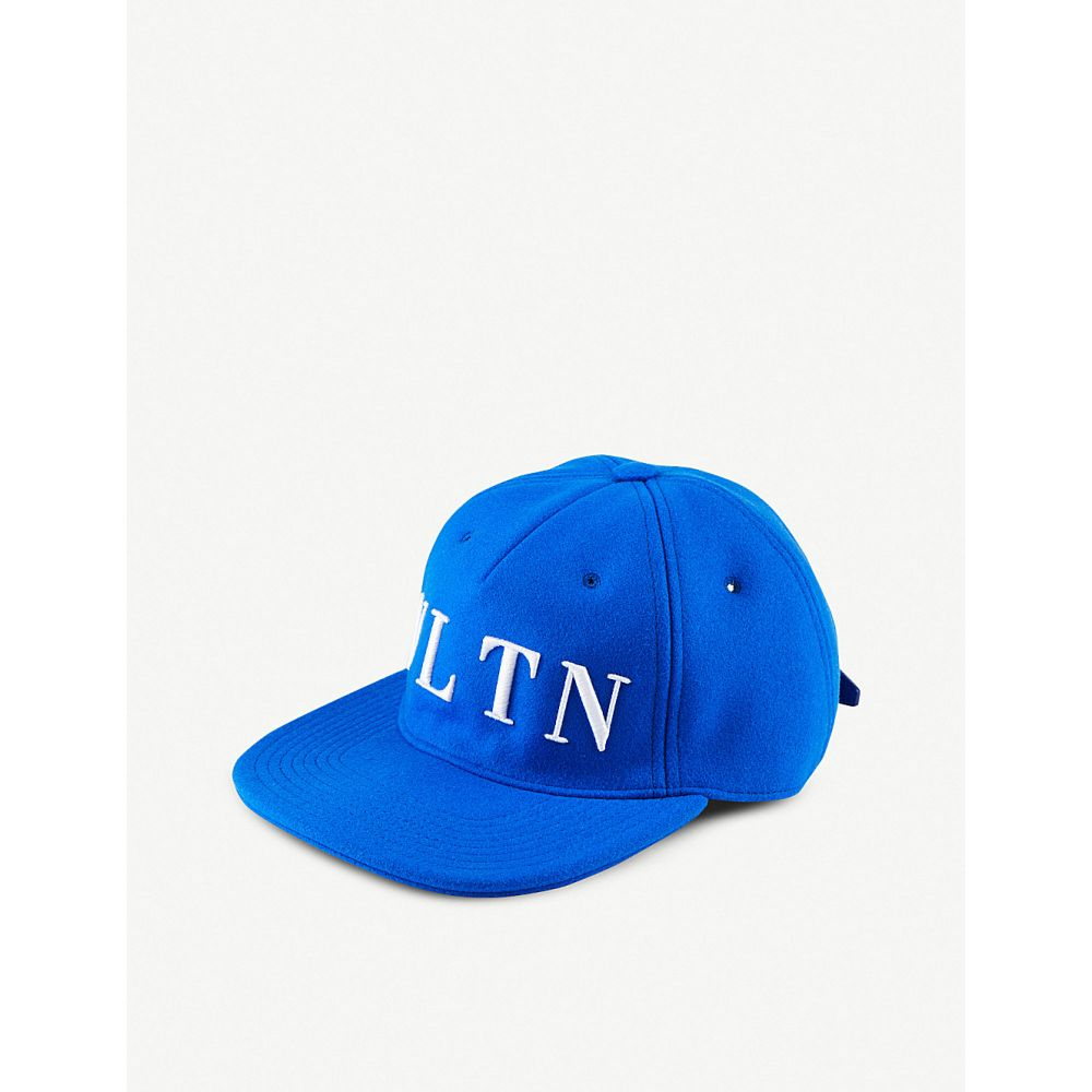 ヴァレンティノ valentino レディース 帽子 キャップ【vltn baseball cap】Acid bluette