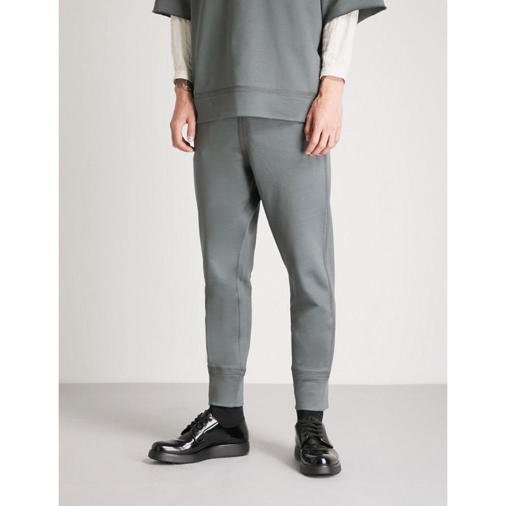 ジル サンダー jil sander メンズ ボトムス・パンツ【tapered cotton-jersey jogging bottoms】Dark grey
