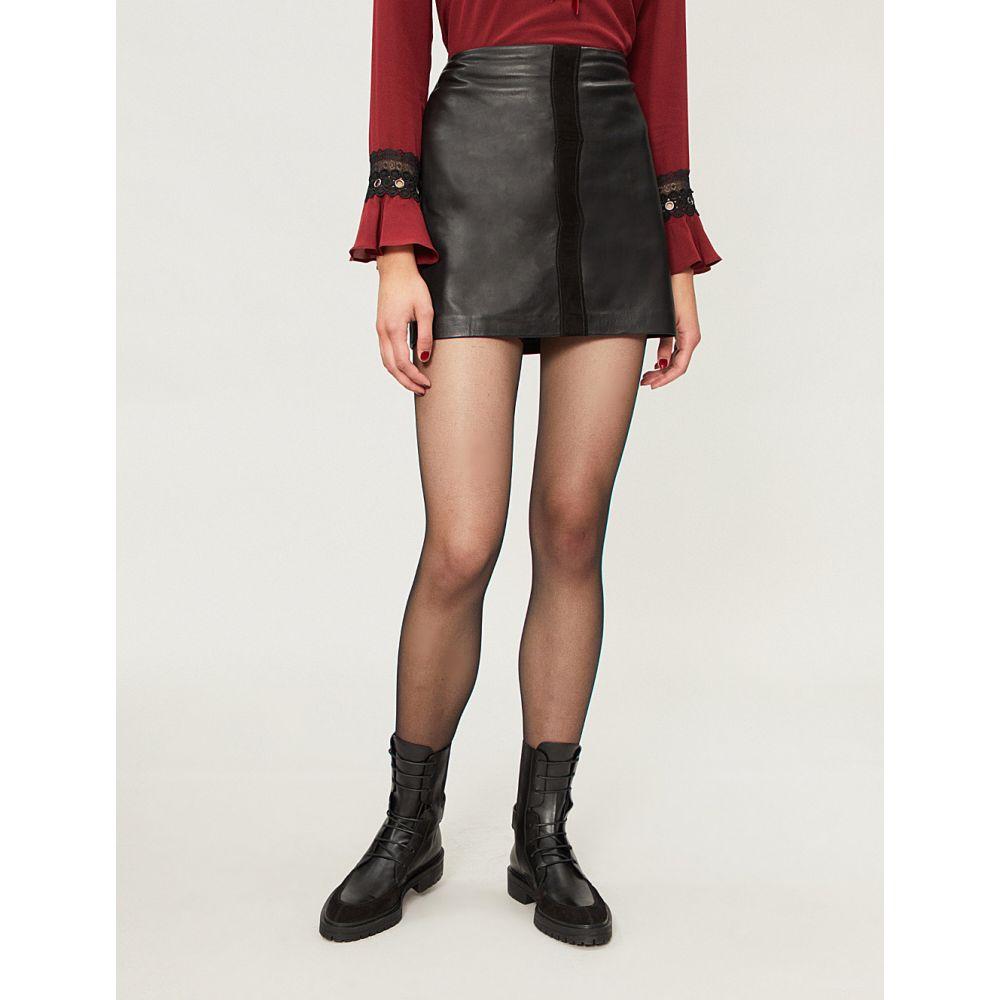 ピンコ pinko レディース スカート ミニスカート【sonda leather mini skirt】Nero limousine