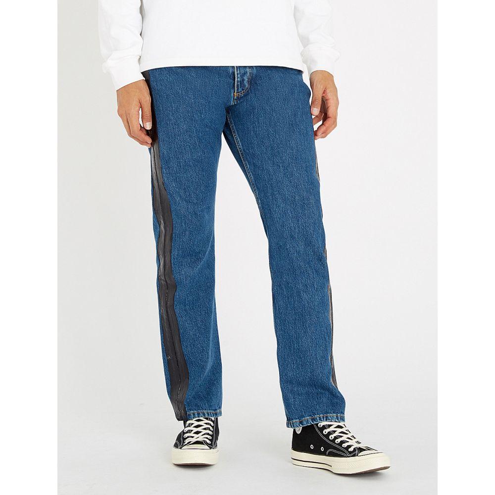 ミスビヘイブ misbhv メンズ ボトムス・パンツ ジーンズ・デニム【regular-fit patent-trim denim jeans】Blue