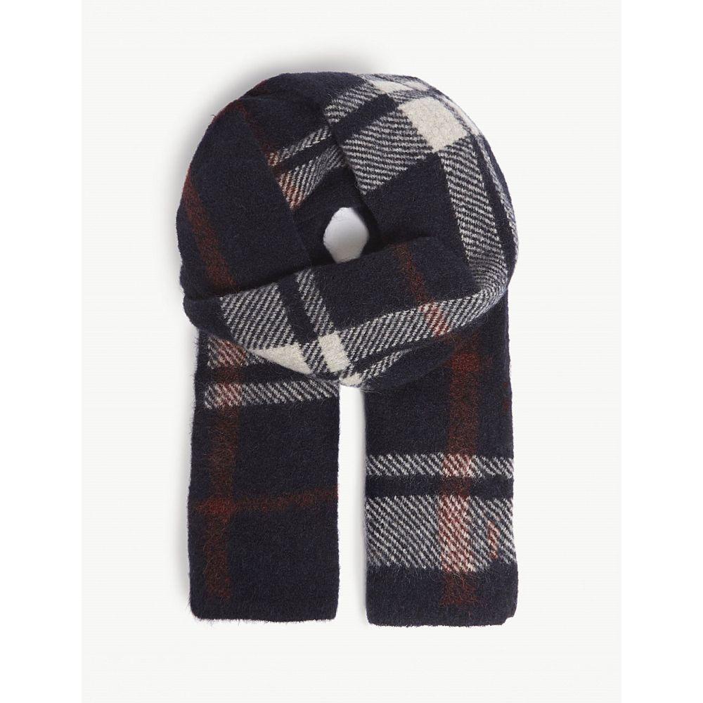 マックスマーラ s max mara レディース マフラー・スカーフ・ストール【check mohair-blend knitted scarf】Navy