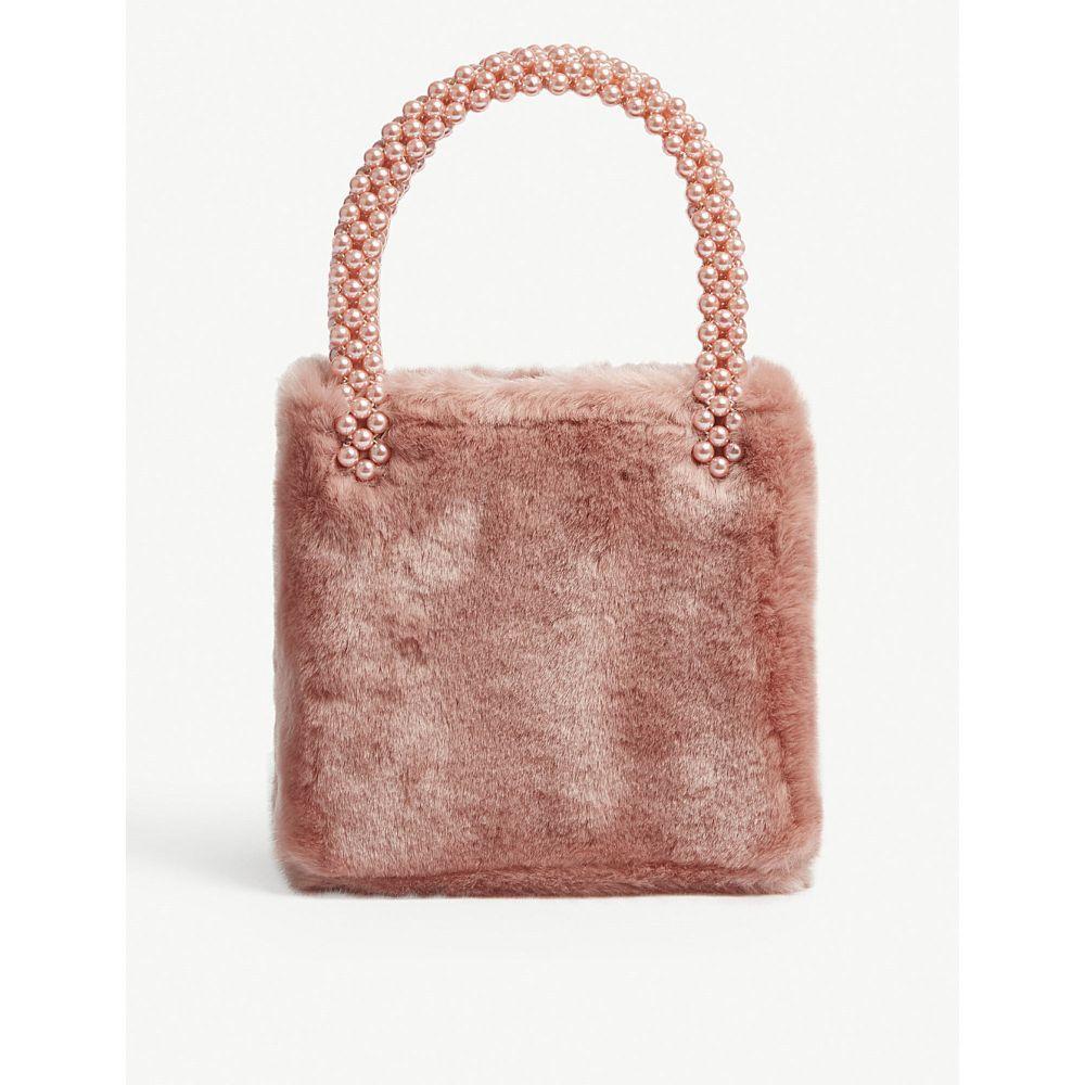 シュリンプス shrimps レディース バッグ ハンドバッグ【una faux-fur bag】Dusty pink