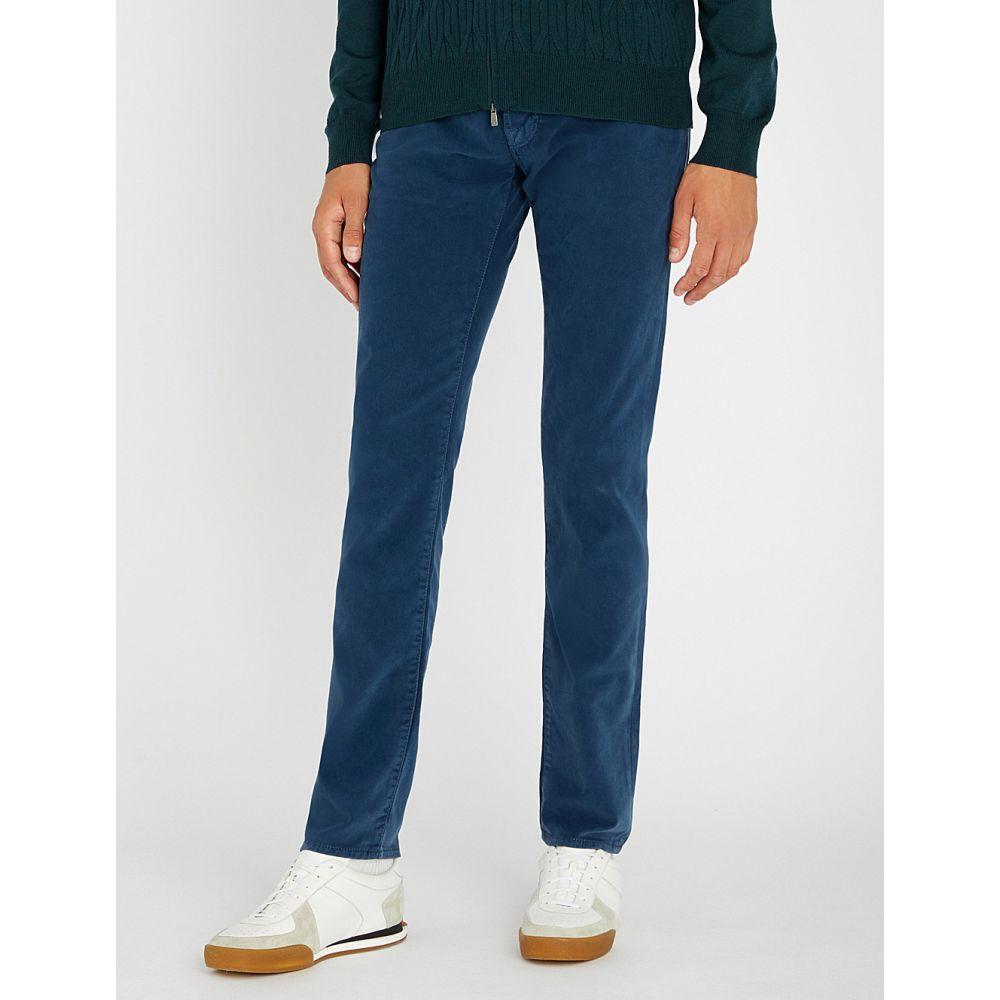 ヤコブ コーエン jacob cohen メンズ ボトムス・パンツ ジーンズ・デニム【tailored-fit tapered jeans】Navy