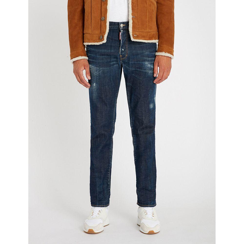 ディースクエアード dsquared2 メンズ ボトムス・パンツ ジーンズ・デニム【distressed slim-fit denim jeans】Blue