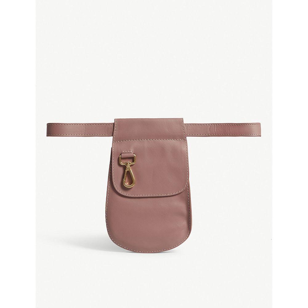 ジマーマン zimmermann レディース バッグ ボディバッグ・ウエストポーチ【saddle calf leather belt bag】Rose