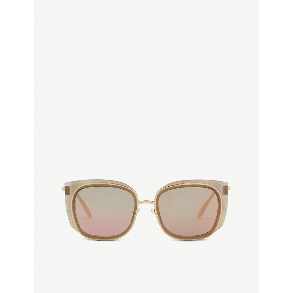 ティエリー ラスリー thierry lasry レディース メガネ・サングラス【enigmaty square-frame sunglasses】Tan