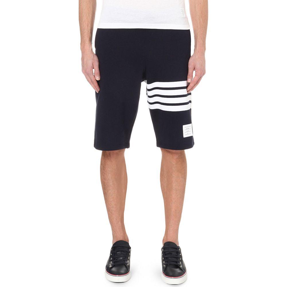 トム ブラウン thom browne メンズ ボトムス・パンツ ショートパンツ【striped cotton-jersey shorts】Navy/white