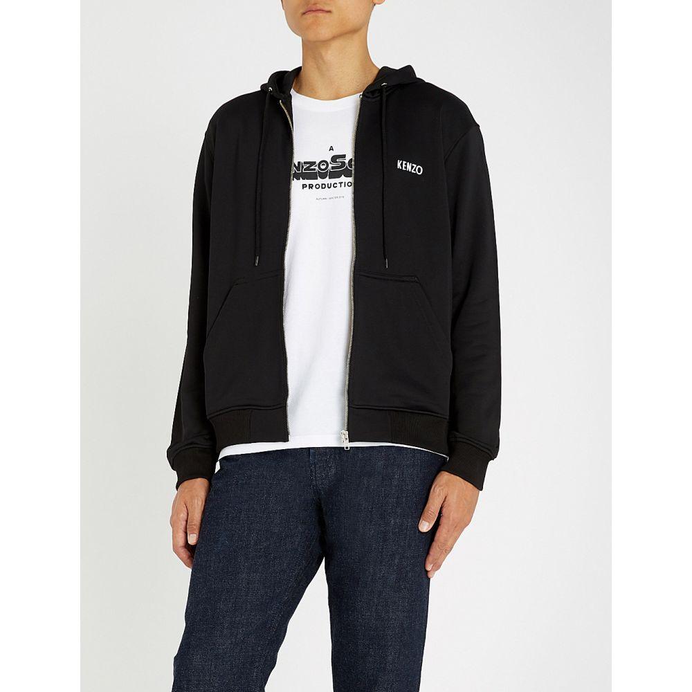 ケンゾー kenzo メンズ トップス パーカー【dragon-embroidered cotton-jersey hoody】Black