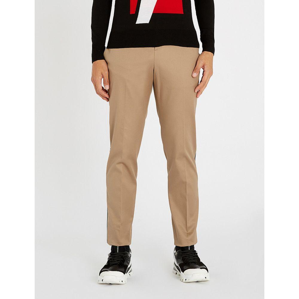 ニール バレット neil barrett メンズ ボトムス・パンツ【side-striped stretch-cotton trousers】Khaki