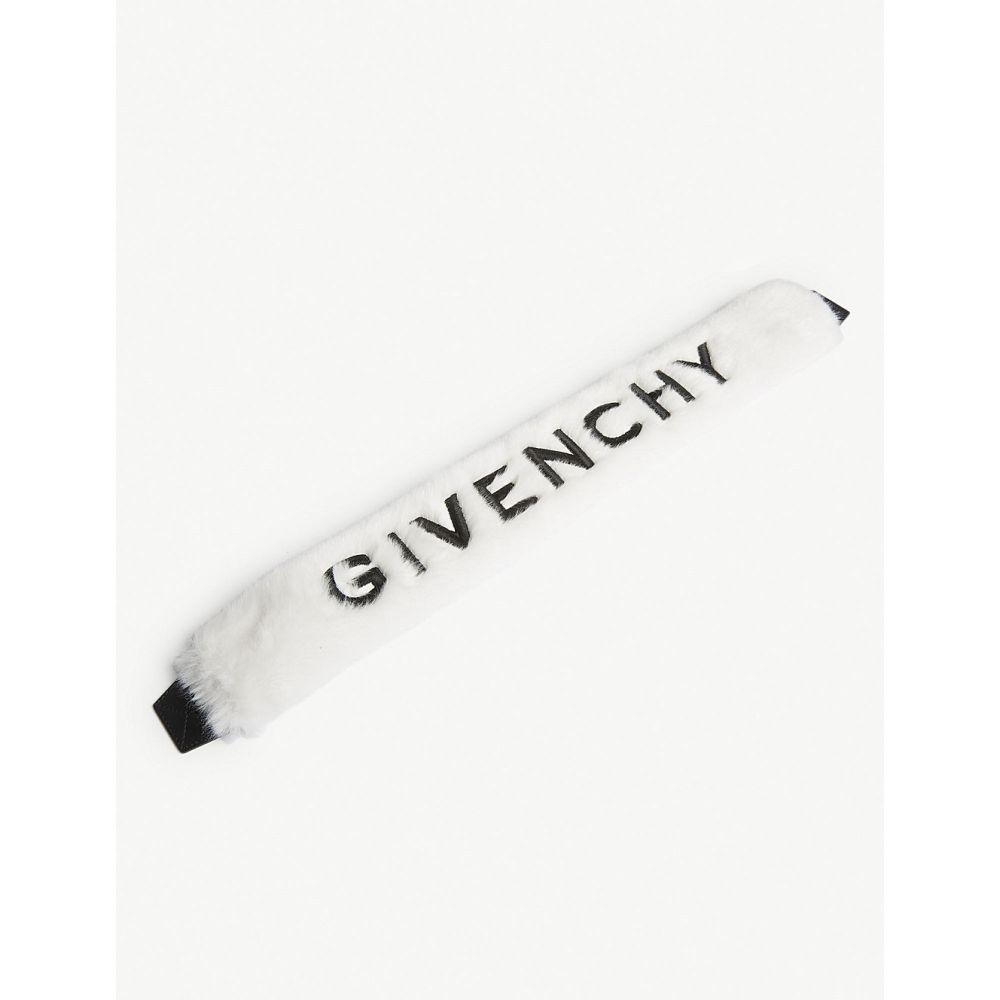 ジバンシー givenchy レディース バッグ バッグストラップ【logo faux-fur bag strap】White
