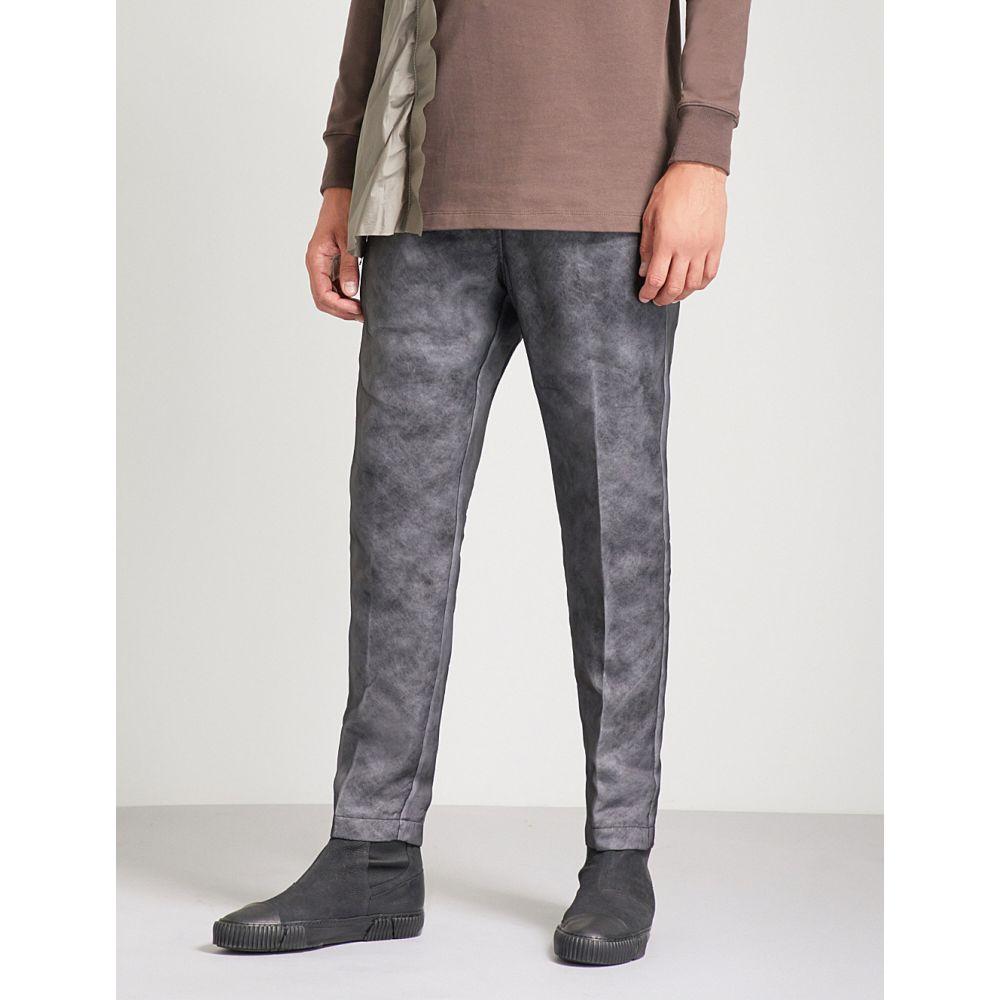 リック オウエンス rick owens メンズ ボトムス・パンツ【relaxed-fit straight organza trousers】Black