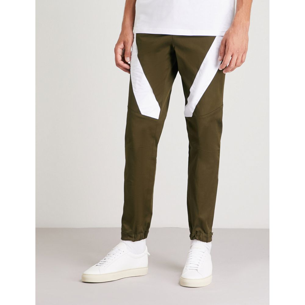 ヴェルサーチ versace versus メンズ ボトムス・パンツ【contrast-panel woven trousers】Khaki