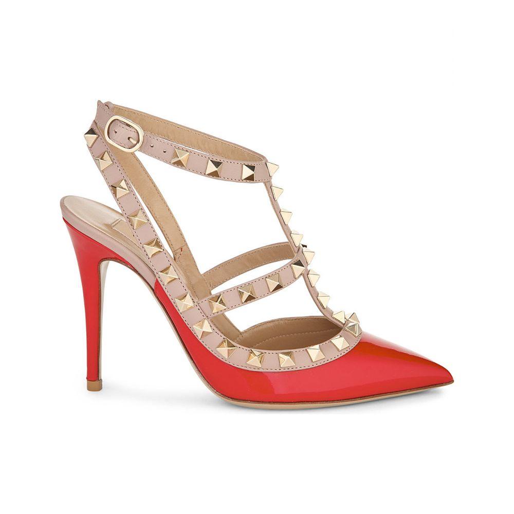 ヴァレンティノ valentino レディース シューズ・靴 パンプス【rockstud 100 patent-leather courts】Red