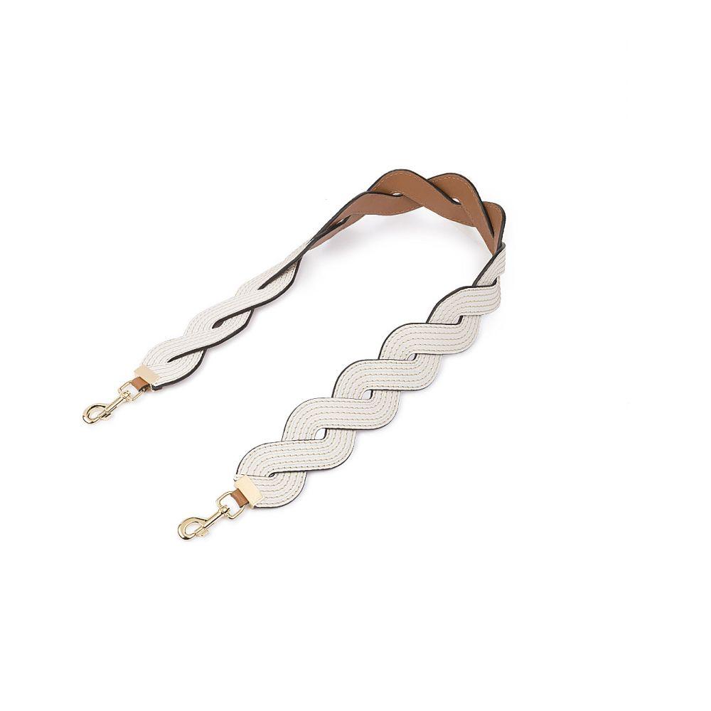 ロエベ loewe レディース バッグ バッグストラップ【wavy stitches leather strap】Soft white