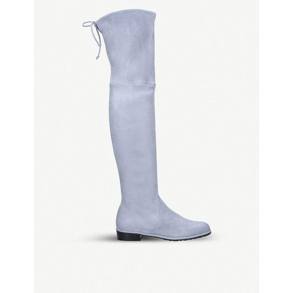 スチュアート ワイツマン stuart weitzman レディース シューズ・靴 ブーツ【lowland suede over-the-knee boots】Blue