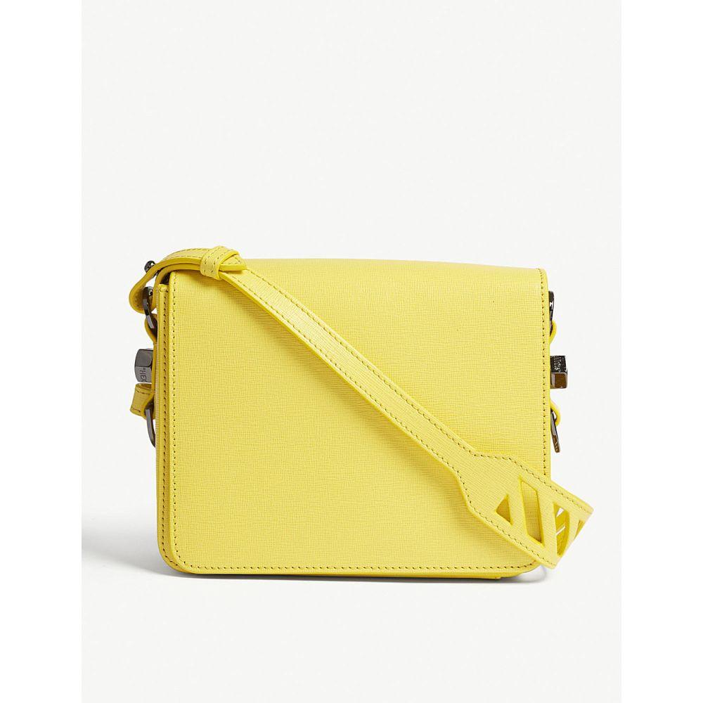 オフホワイト off-white c/o virgil abloh レディース バッグ ショルダーバッグ【grained leather cross-body bag】Yellow