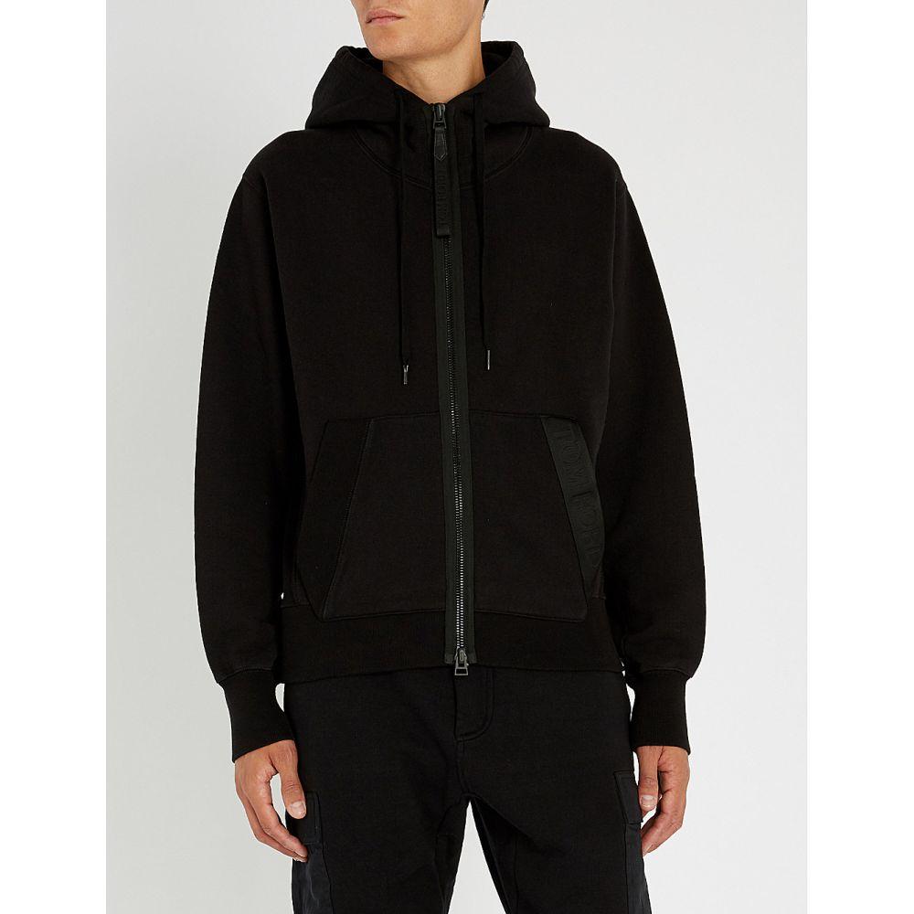 トム フォード tom ford メンズ トップス パーカー【logo pocket cotton-jersey hoody】Black