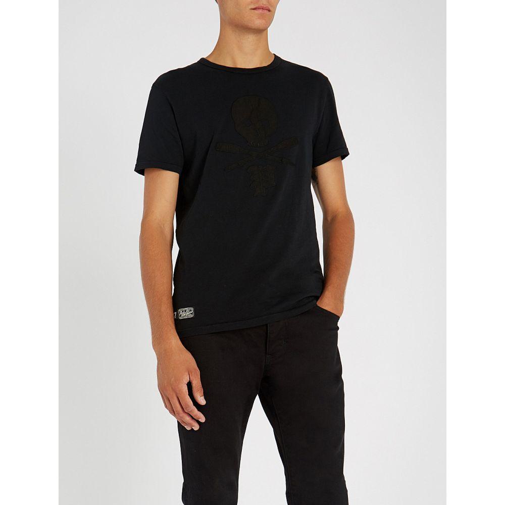 ラルフ ローレン polo ralph lauren メンズ トップス Tシャツ【skull-and-crossbones cotton-jersey t-shirt】Polo black