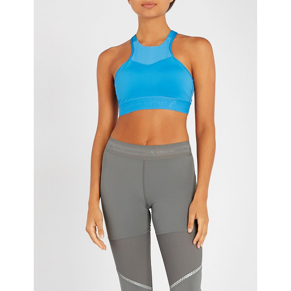 アディダス adidas by stella mccartney レディース インナー・下着 スポーツブラ【hiit stretch-jersey sports bra】Ray blue f