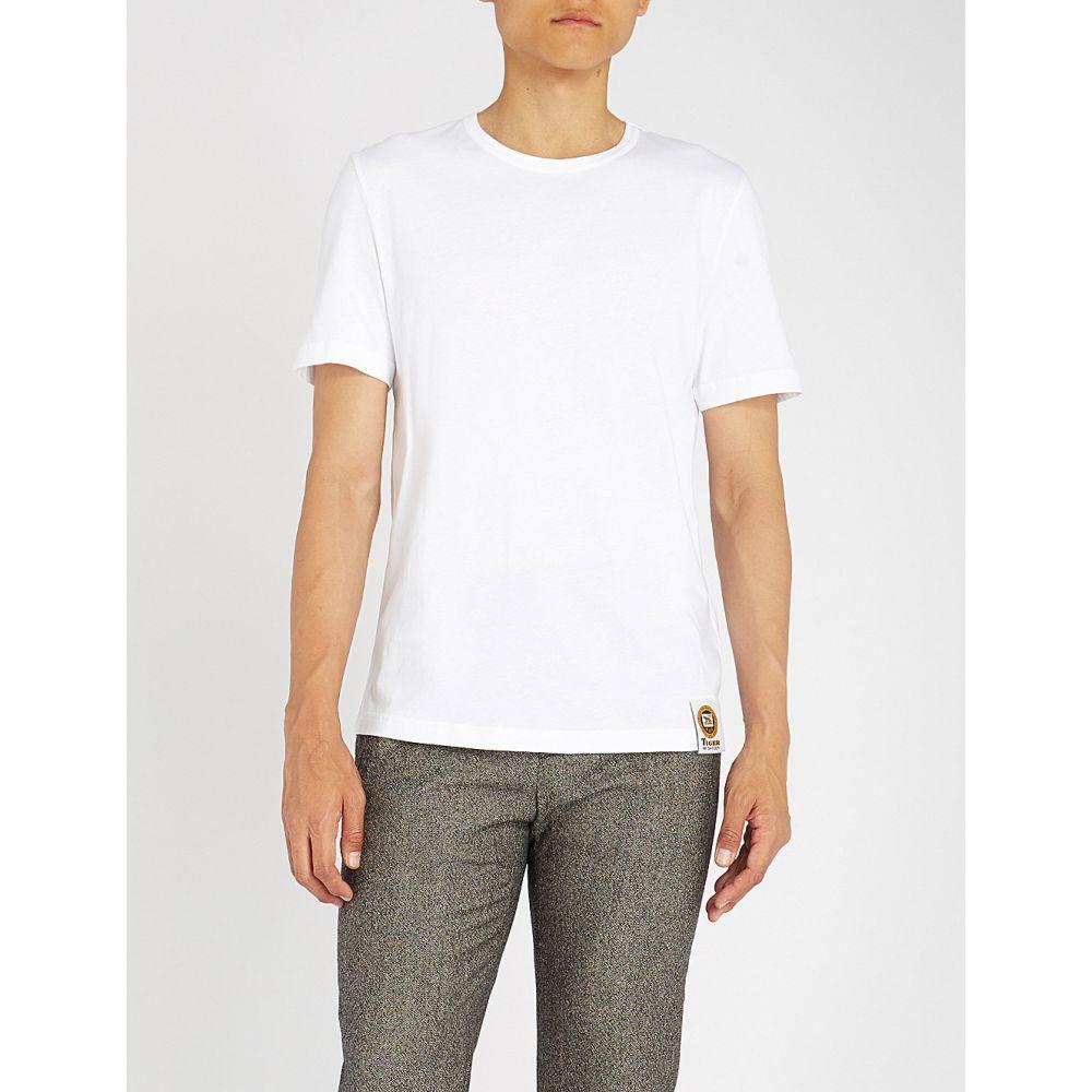 タイガー オブ スウェーデン tiger of sweden メンズ トップス Tシャツ【crewneck cotton-jersey t-shirt】Pure white