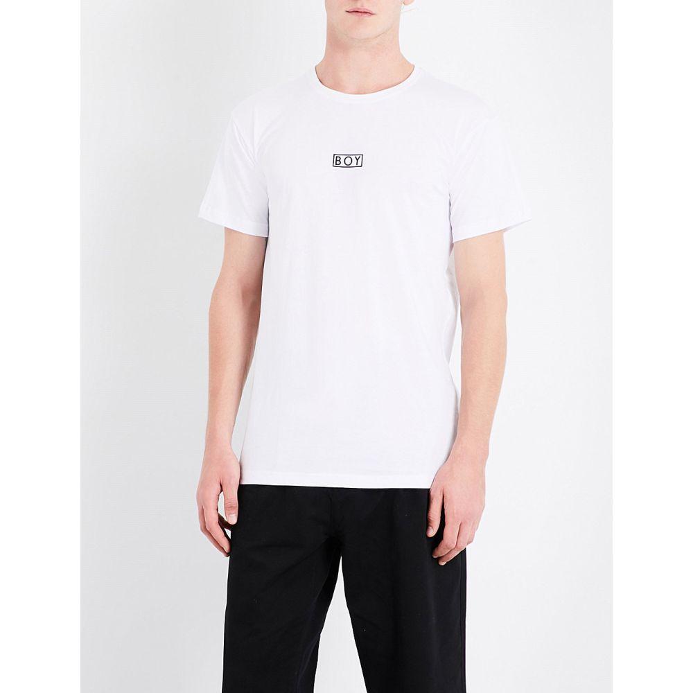 ボーイロンドン boy london メンズ トップス Tシャツ【eagle-print cotton-jersey t-shirt】White