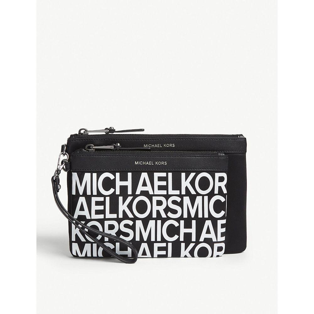 マイケル コース michael michael kors レディース ポーチ【leather pouch set of two】Blk/optwhite