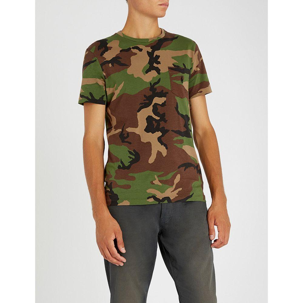 ラルフ ローレン polo ralph lauren メンズ トップス Tシャツ【camouflage-print cotton-jersey t-shirt】Surplus camo