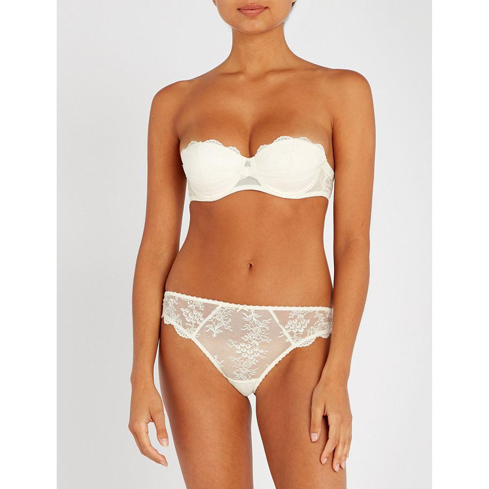 オーバドゥ aubade レディース インナー・下着 ブラジャーのみ【a l amour lace strapless bra】Nacre