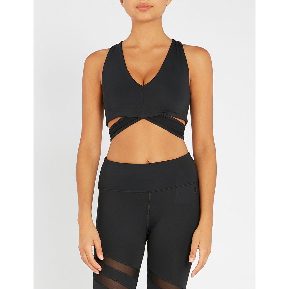 グッドアメリカン good american レディース インナー・下着 スポーツブラ【lace stretch-jersey sports bra】Black