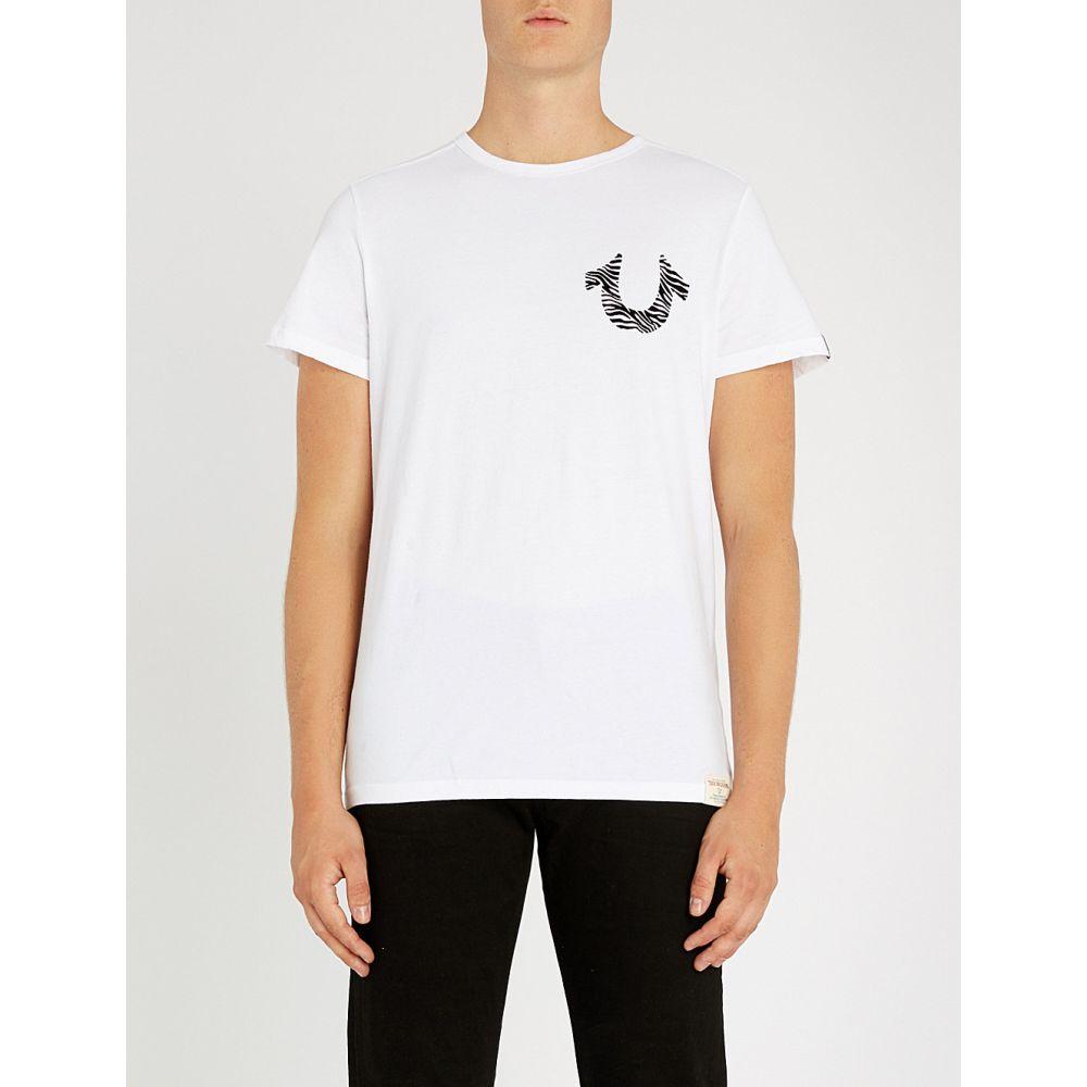 トゥルー レリジョン true religion メンズ トップス Tシャツ【zebra-logo cotton t-shirt】White