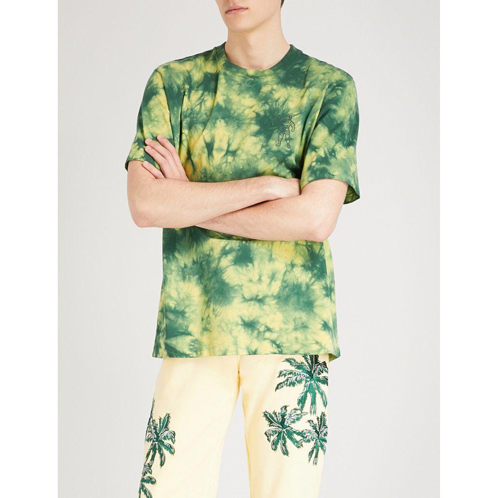 ビリオネアボーイズクラブ billionaire boys club メンズ トップス Tシャツ【the ideal bleached cotton-jersey t-shirt】Yellow