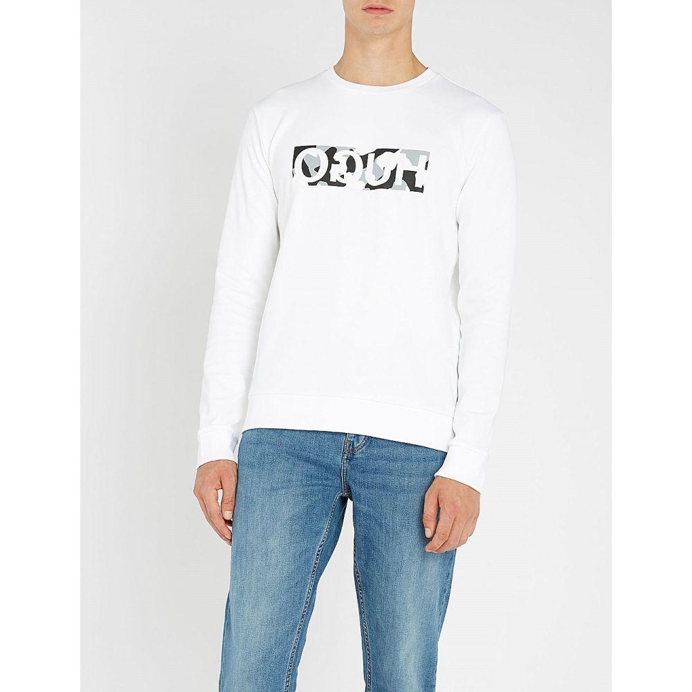 ヒューゴ ボス hugo メンズ トップス 長袖Tシャツ【reverse logo cotton-jersey t-shirt】White